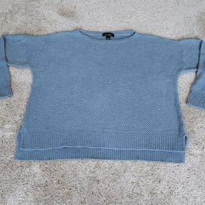 Baby Blue Mens Knit Sweater Size L